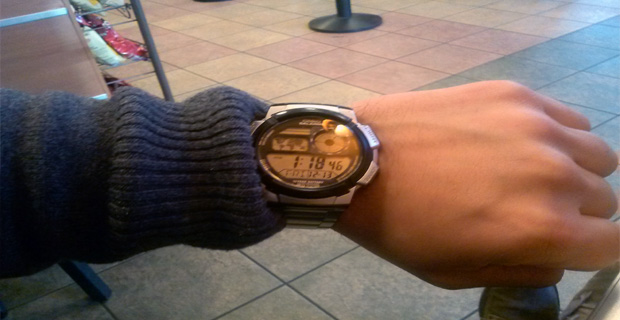6. Have you ever looked at your watch, and you don't know what time it is?