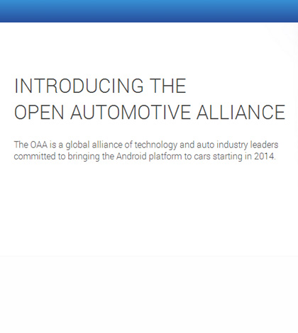 Google Presents Open Automotive Alliance