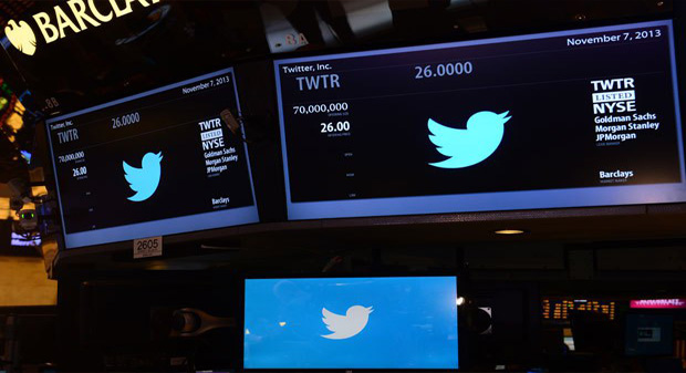 Twitter priced 70 million shares at $26 on Wednesday evening. (Reuters)