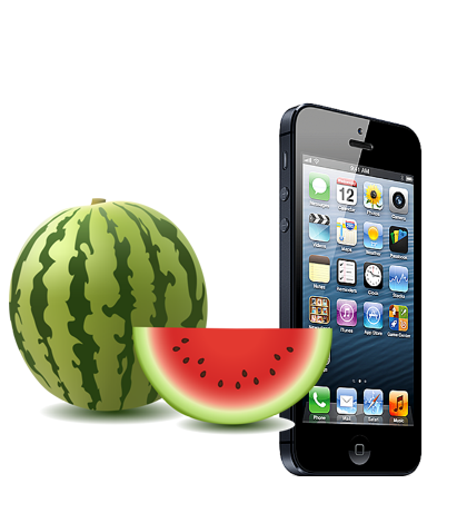 can an actual watermelon charge an iPhone?